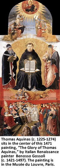 """The Glory of Thomas Aquinas,"" by Benozzo Gozzoli"
