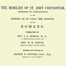 Title Page, Chrystostom's Homlies on Romans