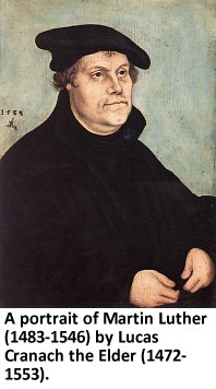Martin Luther, portrayed by Lucas Cranach the Elder